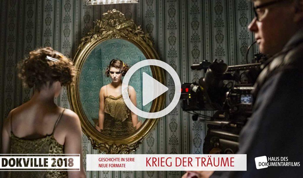 """Poster zum Panel """"Krieg der Träume"""" bei Dokville 2018 (© HDF)"""