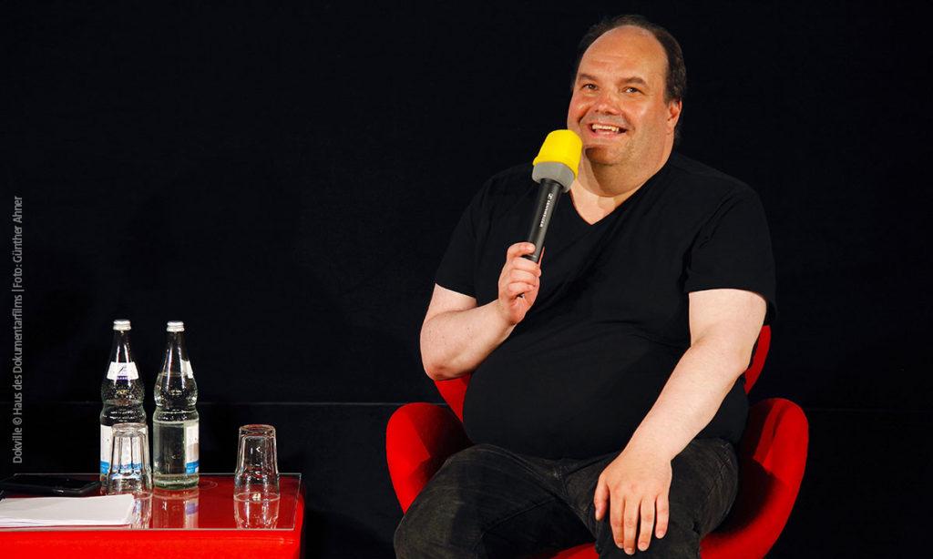 Frank Geiger zu Gast bei DOKVILLE 2019 (Foto: Günther Ahner/HDF)