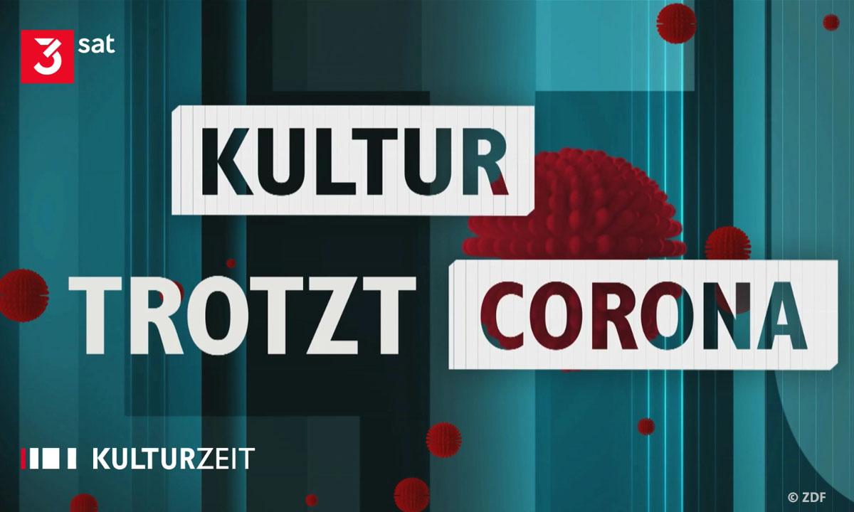 "Logo 3sat ""Kultur trotz(t) Corona"" (© ZDF)"