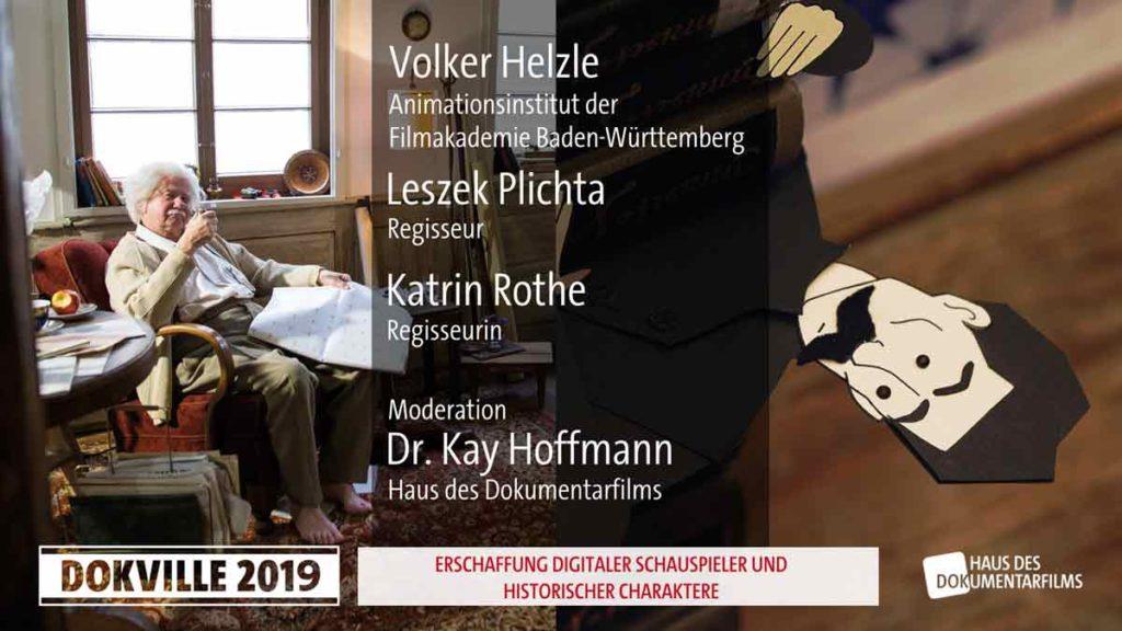 Doku und die Rekonstruktion historischer Figuren beim Branchentreff Dokville 2019