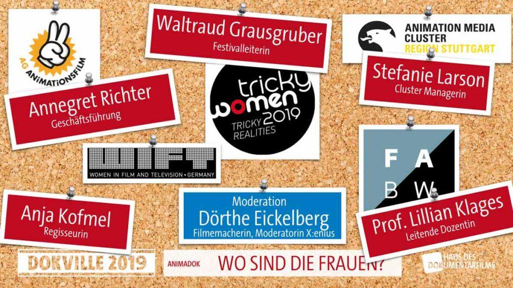 Panel AnimaDok Dokville 2019 Frauen und Filmbranche Powerpointfolie