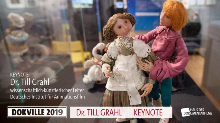 Poster zur Keynote von Dr. Till Grahl bei Dokville 2019 © HDF