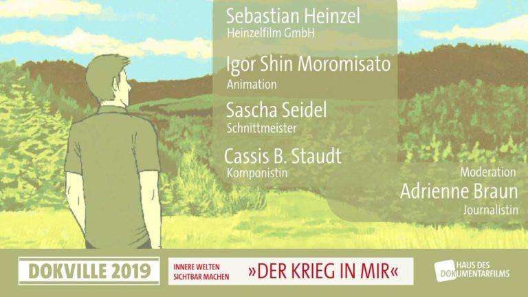 """Poster zum Panel """"Der Krieg in mir"""" bei Dokville 2019 © HDF"""