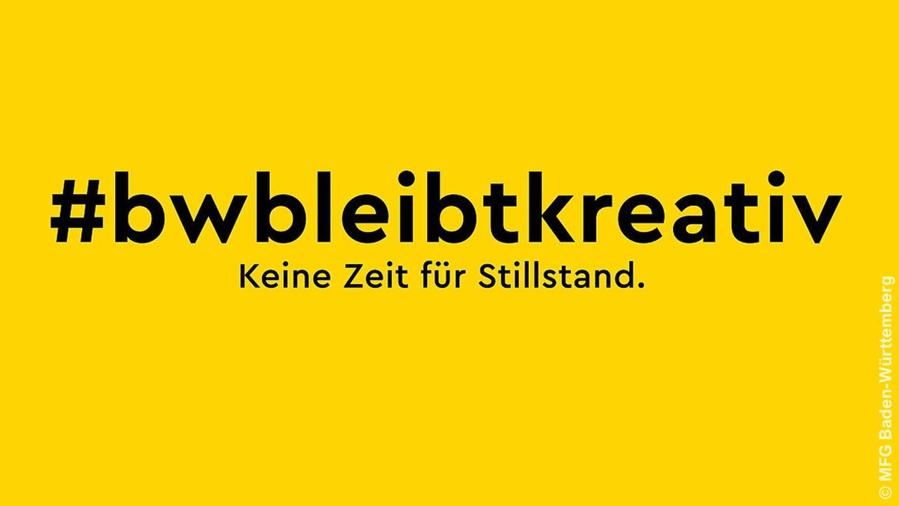 #bwbleibtkreativ: Logo der MFG-Initiative (© MFG Baden-Württemberg)