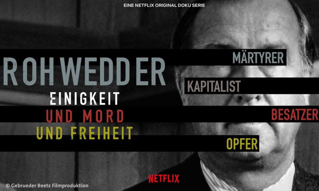 """Filmplakat zu """"Rohwedder - Einigkeit und Mord und Freiheit"""" © Gebrueder Beetz Filmproduktion"""