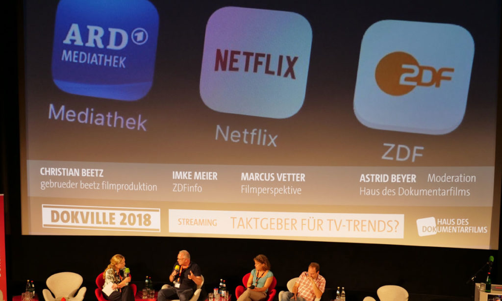DOKVILLE 2018: Panel zum Thema Streaming (© Sabine Hackenberg/HDF)