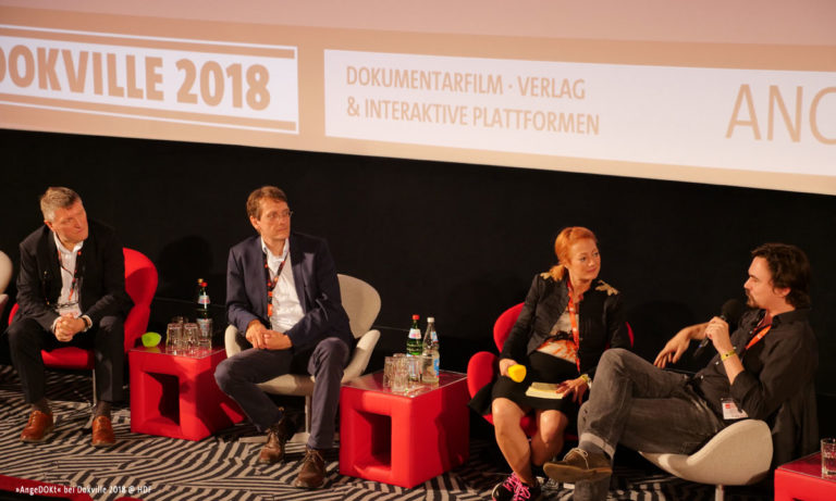 DOKVILLE 2018: Panel AngeDOKt mit Dörthe Eickelberg (© Sabine Hackenberg/HDF)
