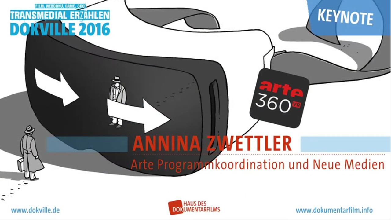 Keynote zu Dokville 2016: Annina Zwettler zu 360° und VR bei ARTE