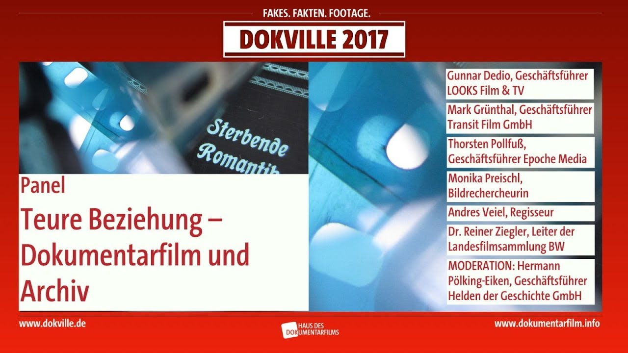 DOKVILLE Panel: Teure Beziehung - Dokumentarfilm Dokumentarfilm und Archiv (HDF)