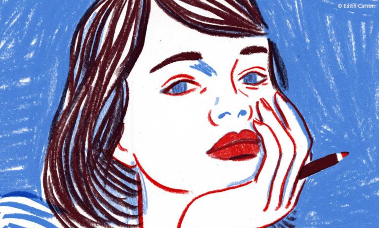 """Illustration zur Instagram-Serie """"Ich bin Sophie Scholl"""" von Edith Carron"""