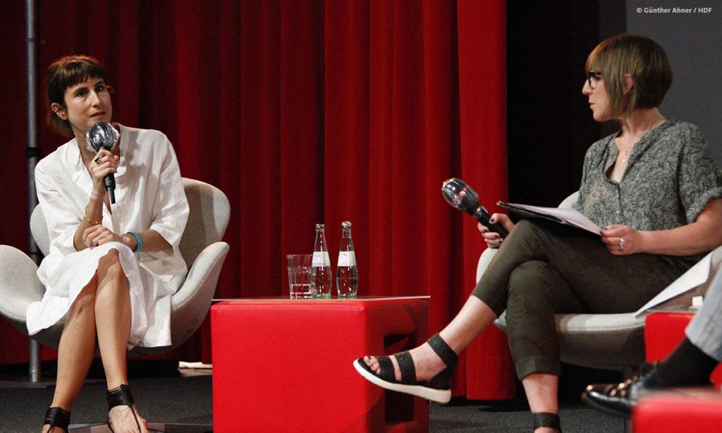 Melanie Andernach und Gritt Lemke bei DOKVILLE 2021 (c) Günther Ahner
