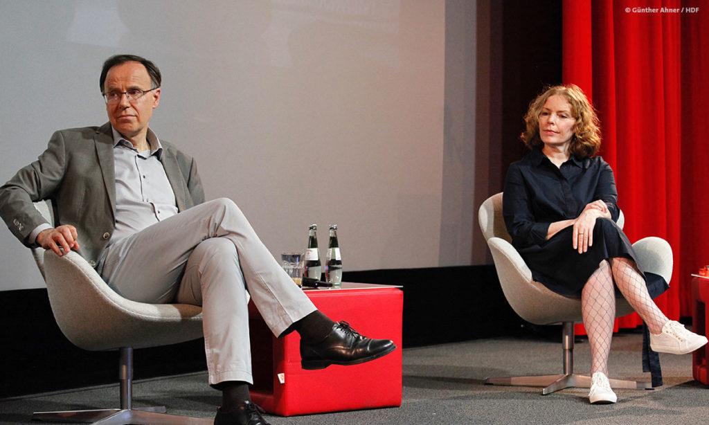 Carl Bergengruen und Anne Fabini bei DOKVILLE 2021 (c) Günther Ahner