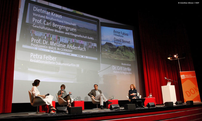 Gäste des BFS-Panels bei DOKVILLE 2021 © Günther Ahner/HDF