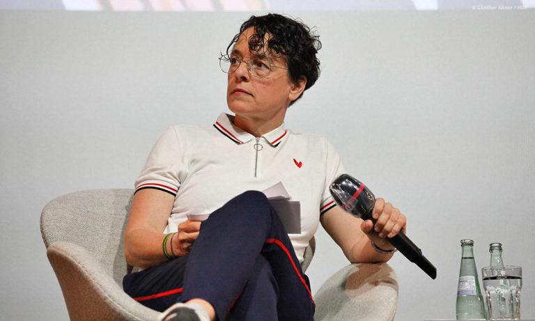 """Adrienne Braun moderierte das Panel zu """"Ich bin Sophie Scholl"""" © Günther Ahner/HDF"""