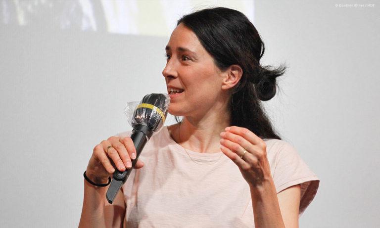 """Katja Siegel beim Panel zu """"Ich bin Sophie Scholl"""" © Günther Ahner/HDF"""