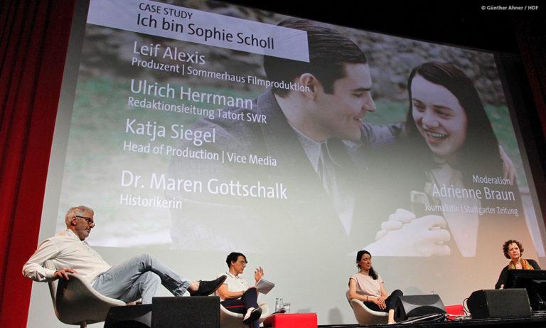 """DOKVILLE Panel zu """"Ich bin Sophie Scholl"""" (Günther Ahner / HDF)"""