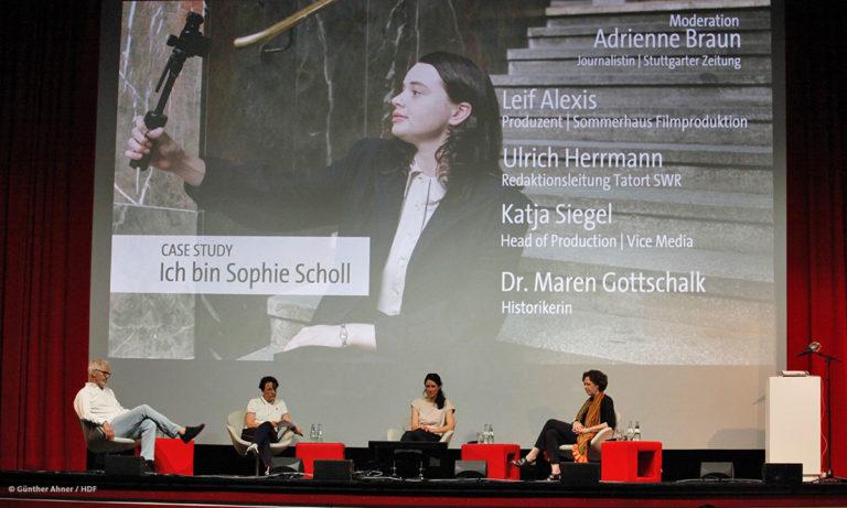 """Das Panel zur Instagram-Serie """"Ich bin Sophie Scholl"""" © Günther Ahner/HDF"""
