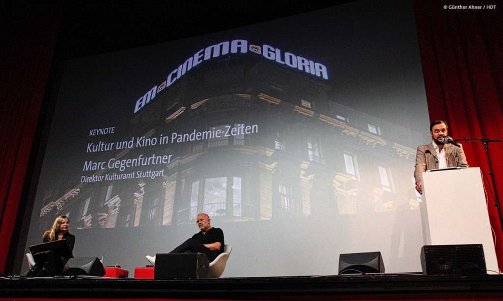 Keynote von Marc Gegenfurtner bei DOKVILLE 2021 © Günther Ahner/HDF