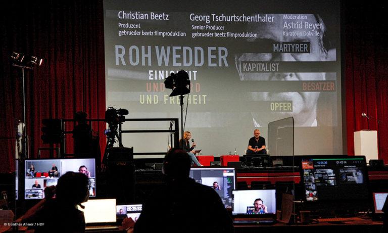 Rohwedder-Panel bei DOKVILLE 2021 © Günther Ahner/HDF