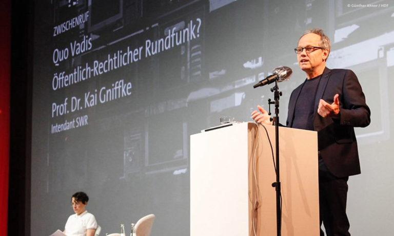 Zwischenruf von SWR-Intendant Kai Gniffke bei DOKVILLE 2021 © Günther Ahner/HDF