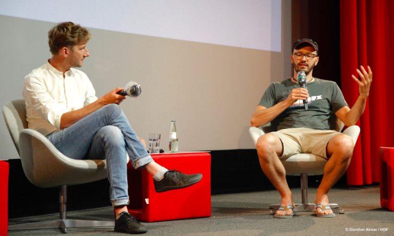 Falk Schuster und Simeon Conzendorf bei DOKVILLE 2021 © Günther Ahner/HDF