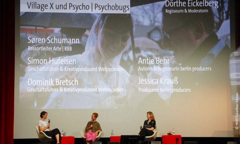 DOKVILLE-Panel zu VillageX und Psycho/Psychobugs © Günther Ahner/HDF