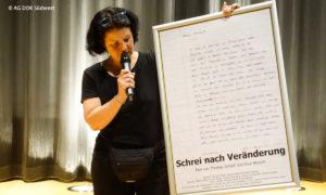 Sabine Willmann beim Dokumentarfilmtag der AG DOK