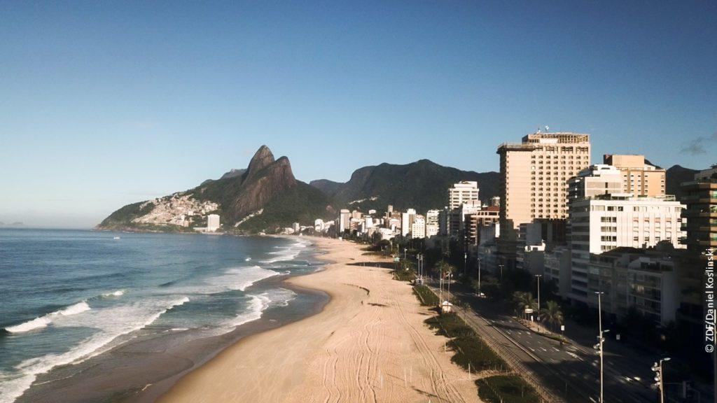 Rio de Janeiro ist betroffen von der Corona-Pandemie in Doku Die Welt jenseits der Stille